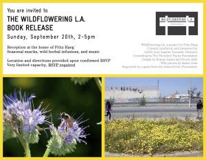 Wildflowering book launch invite